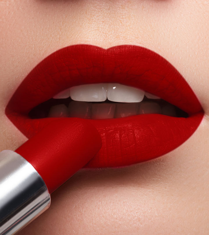 rich red lipstick