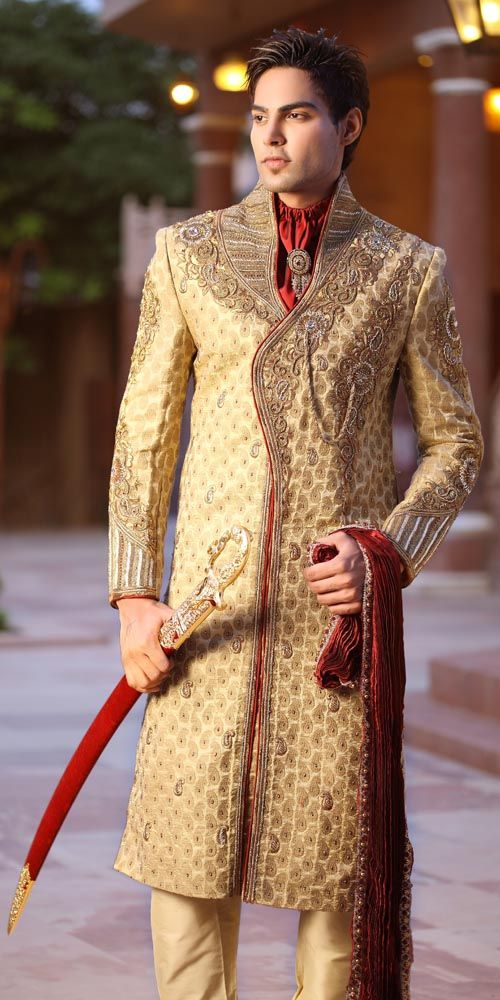7817a85049 Top 9 Latest Indian Groom Dress | Mylargebox