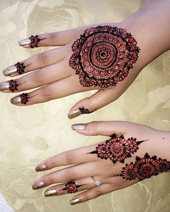 Round Design Gol Tikka Mehndi With Unlimited Image Mylargebox