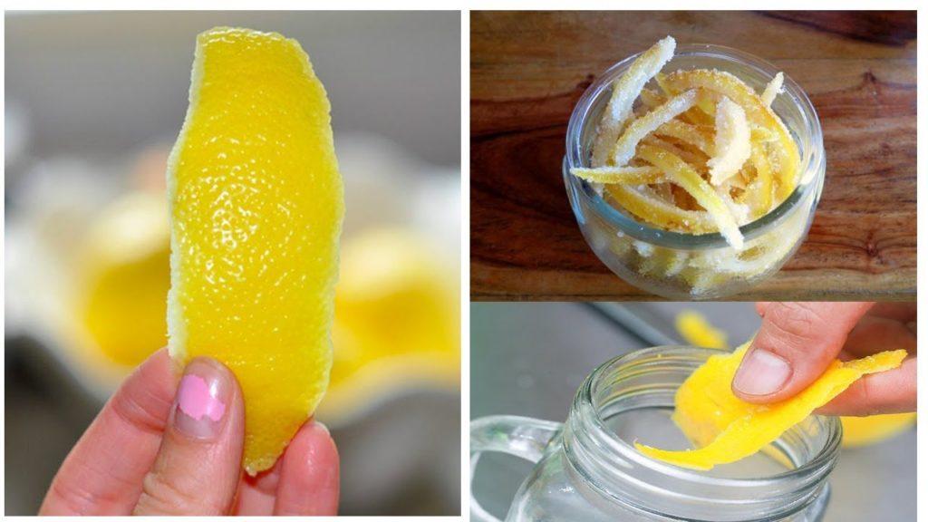 Dry lemon peels powder and turmeric paste