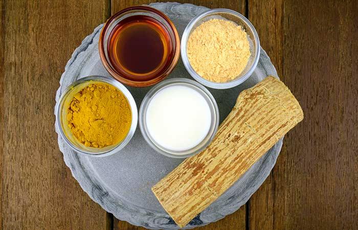 Gram Flour And Turmeric Face Pack