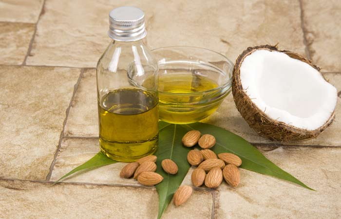 almond or coconut oil face pack