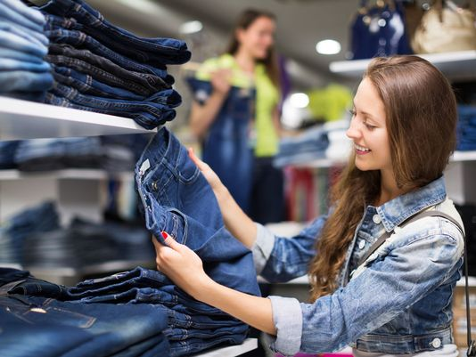 buying jeans, come to the shopkeeper's point of view