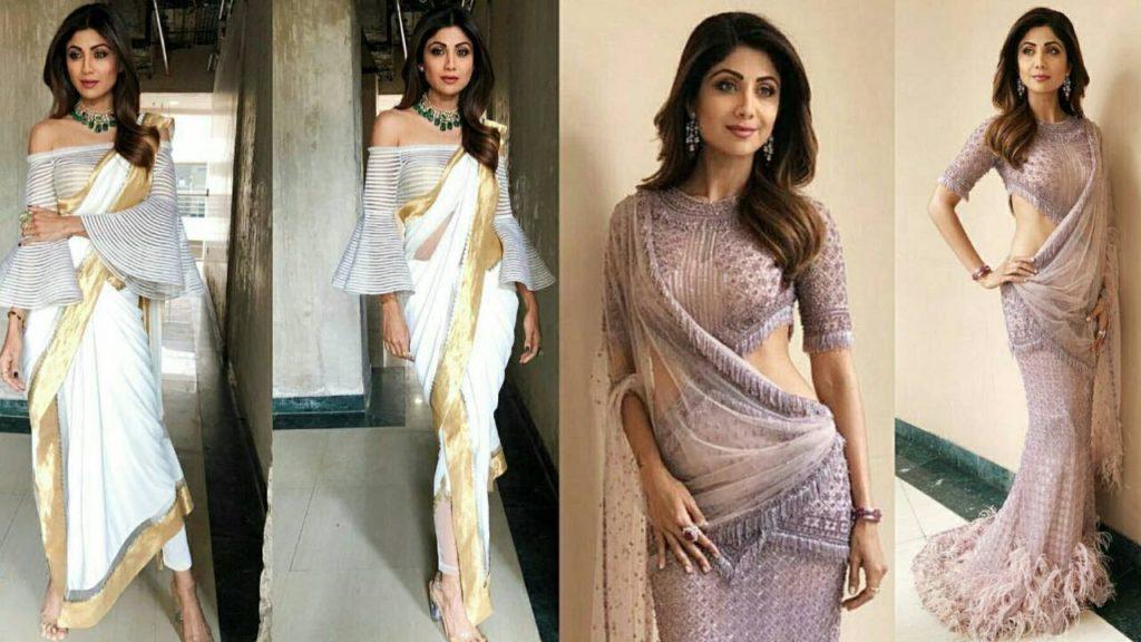 stylish in saree
