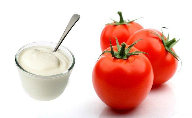 tomato juice and yogurt face pack