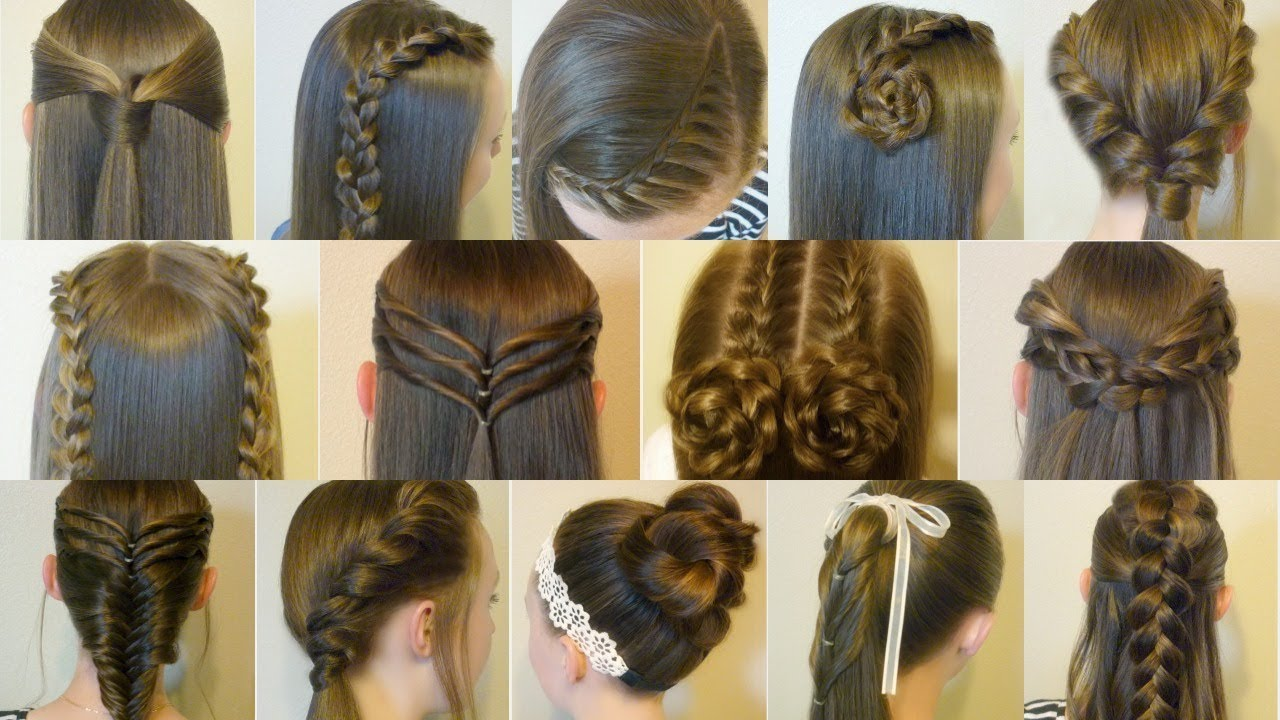 12 Easy Hairstyles images for every girls and women any occasion