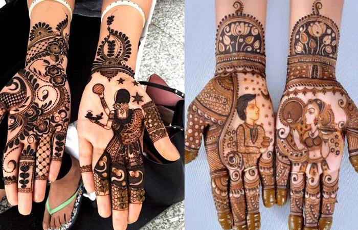 full hand mehndi design for karwa chauth